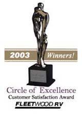 Clem's Trailer Sales RV Award